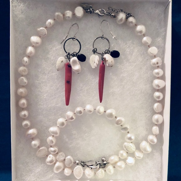 Lucky Brand Earrings, Necklace & Bracelet Set